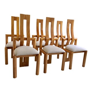 Mid-Century Curved Back Dining Chairs - Set of 6