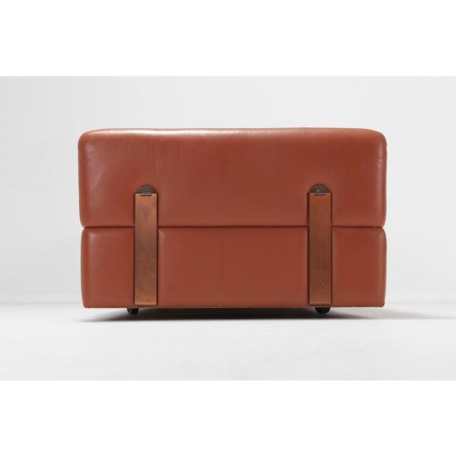 Minimalist Cognac Leather Sofa by Tito Agnoli for Cinova For Sale - Image 10 of 12