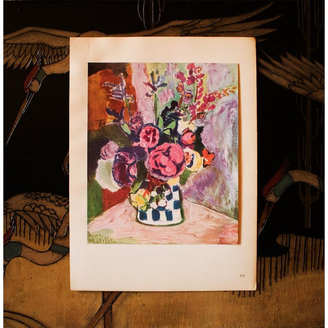 "French 1940s Henri Matisse, Original Period Parisian Lithograph ""Vase of Flowers"" For Sale - Image 3 of 7"