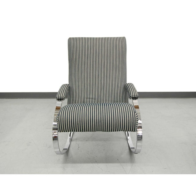 Mid-Century Chrome Rocking Chair by Milo Baughman For Sale - Image 5 of 7