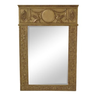 Italian Neoclassical Gold Gilt Mirror With Gargoyle For Sale