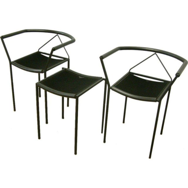 Maurizio Peregalli Zeus Chairs and Stool Set - 3 Pc. For Sale - Image 11 of 11