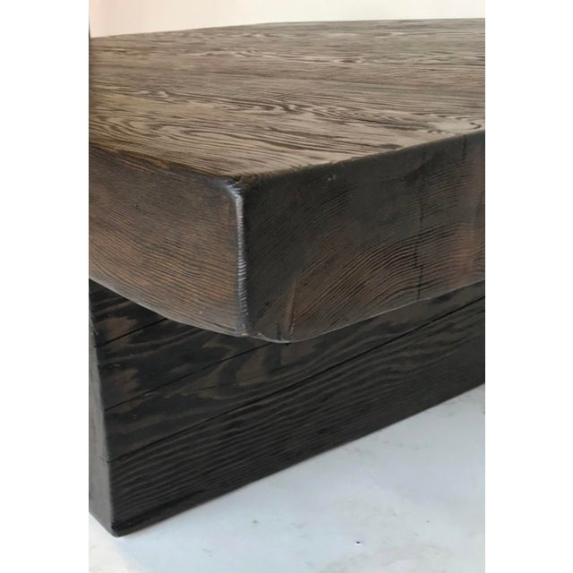 Dos Gallos Custom Reclaimed Wood Rustic Modern Coffee Table For Sale - Image 4 of 7