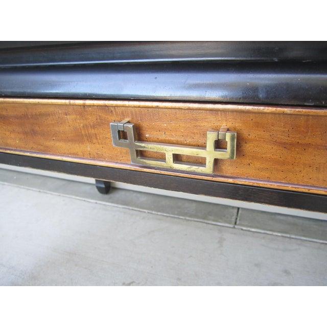 Black Raymond Sobota Century Furniture Burl Wood Black Lacquer Writing Desk For Sale - Image 8 of 12