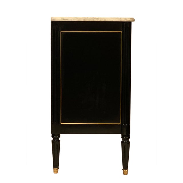 Antique Louis XVI Style Ebonized Chest For Sale - Image 4 of 6