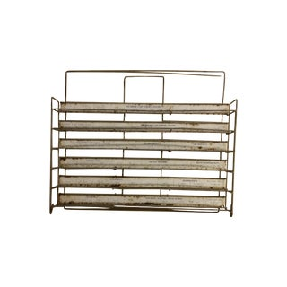 Mid-Century Industrial Hardware Rack For Sale