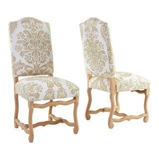 1900s Traditional Os De Mouton Side Chairs - a Pair For Sale