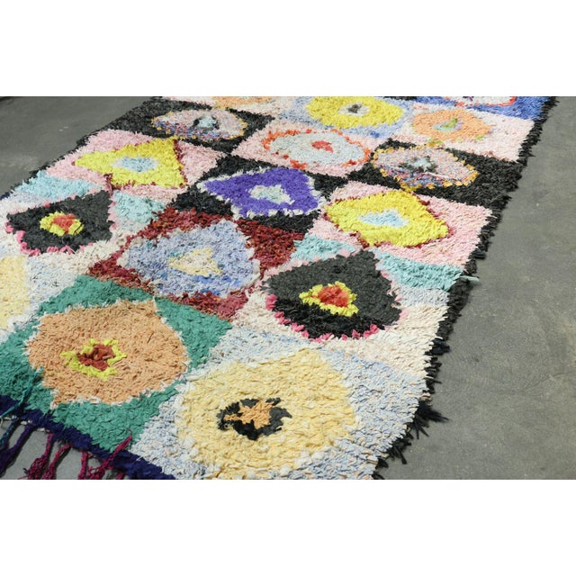 Moroccan Hand Knotted Colorful Vintage Moroccan Rug - 4′2″ × 6′6″ For Sale - Image 3 of 4