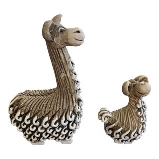 Vintage Mid Century Llama Figurines - a Pair For Sale