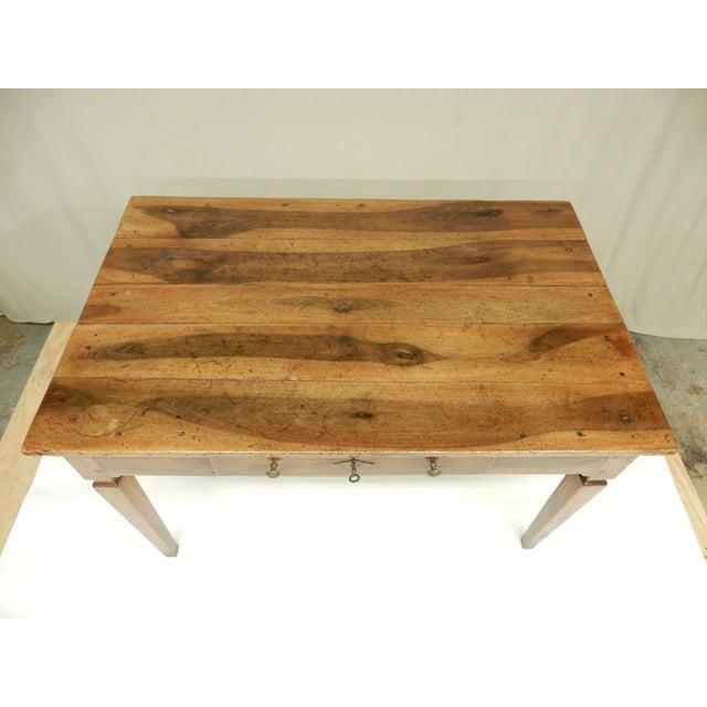 Farmhouse Directoire' Provincial Walnut Farm Table/Desk For Sale - Image 3 of 8
