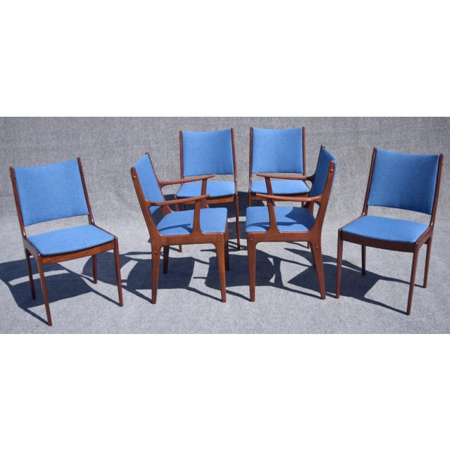 Johannes Andersen Danish Modern Rosewood Dining Chairs - Set of 6 - Image 3 of 9