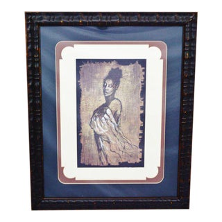 "Contemporary ""Woman"" Framed & Matted Print For Sale"