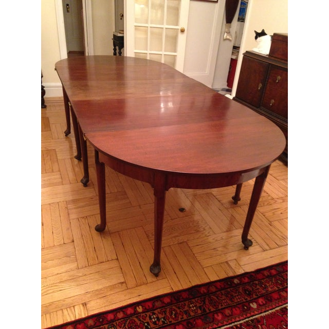 Brown 1740 English Traditional Dining Table For Sale - Image 8 of 8