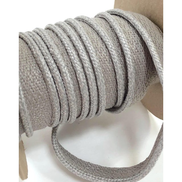 "Gray Braided 1/8"" Indoor-Outdoor Gray Cord Trim For Sale - Image 8 of 9"