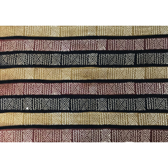 Bogolan Mali Mud Cloth Textile For Sale - Image 4 of 8