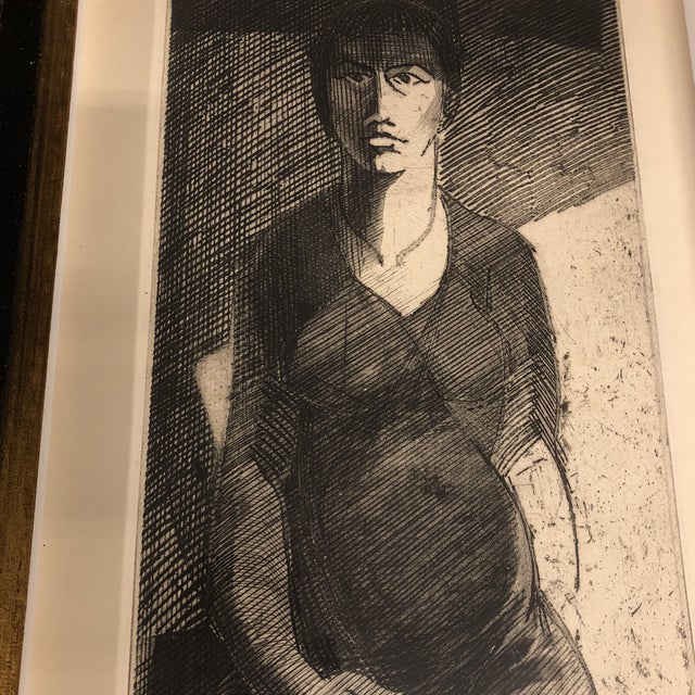 Original He Buckley Studio Proof Litho Female Figure For Sale - Image 4 of 6