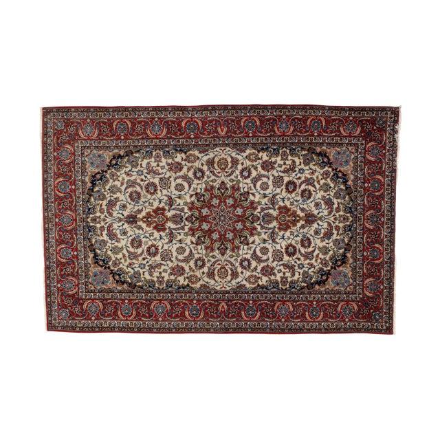 "Leon Banilivi Persian Isphahan Carpet - 5'3"" x 8' For Sale"