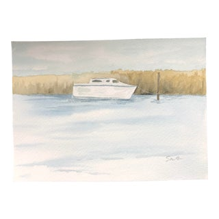 """Nancy Smith Original """"The Colors of Apalach"""" Watercolor Painting For Sale"""