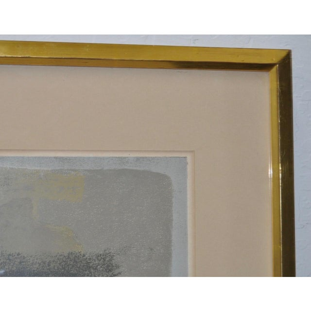 """Andre Mineaux """"Tete de Femme"""" Original Lithograph c.1960s For Sale - Image 5 of 11"""