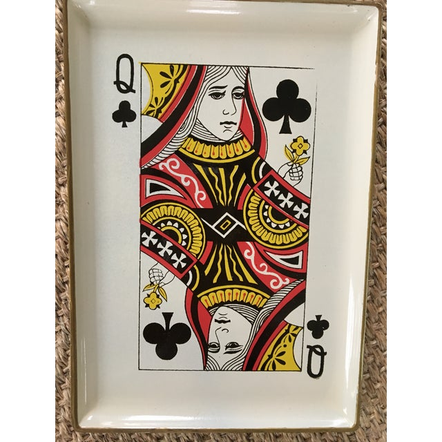 1960s 1960's Vintage Snack Trays in Playing Card Shapes - Set of 4 For Sale - Image 5 of 13