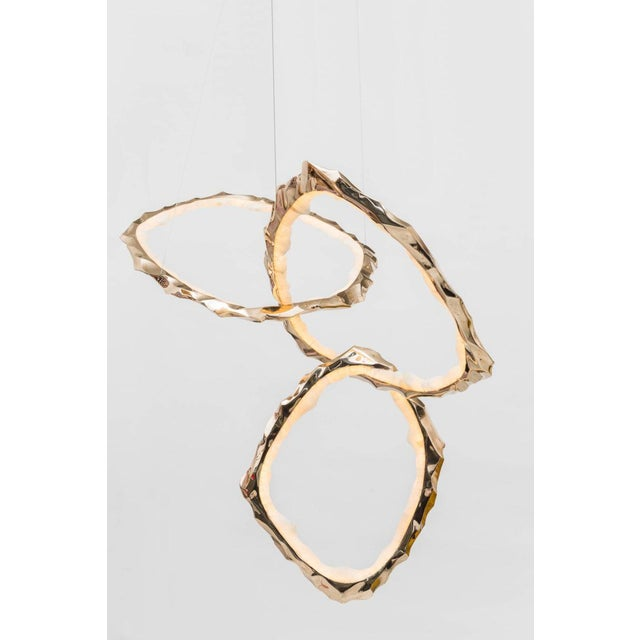 Markus Haase, Bronze and Onyx Circlet Chandelier, Usa, 2018 For Sale - Image 9 of 11