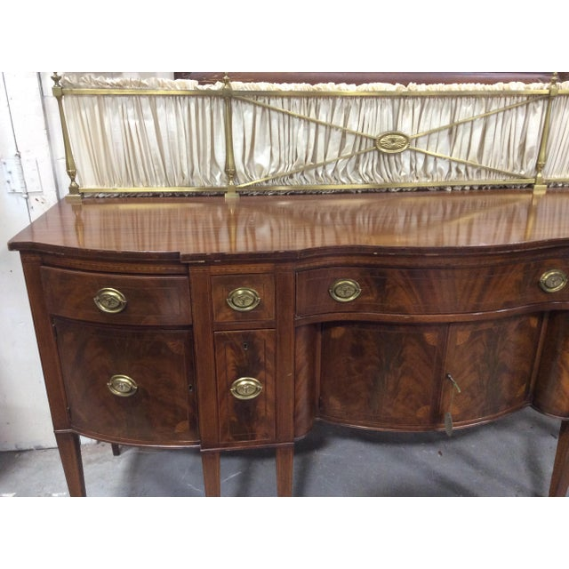 1940s Hepplewhite Style Mahogany Sideboard With Inlay For Sale - Image 9 of 10
