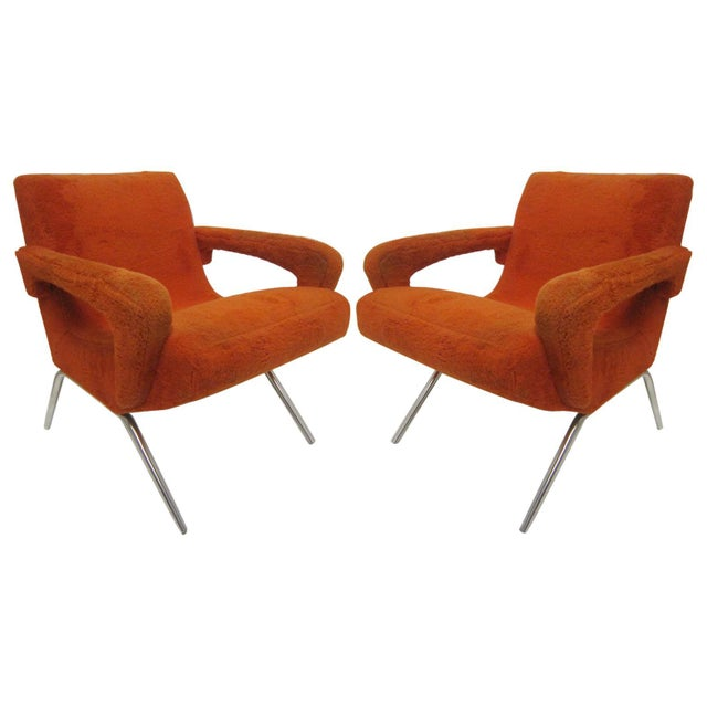 Mid-Century Italian Upholstered Lounge Slipper Chairs - a Pair For Sale - Image 13 of 13