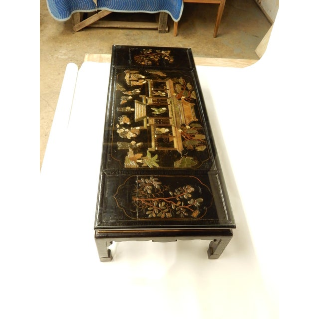 19th Century Lacquered Chinoiserie Coffee Table For Sale - Image 5 of 11