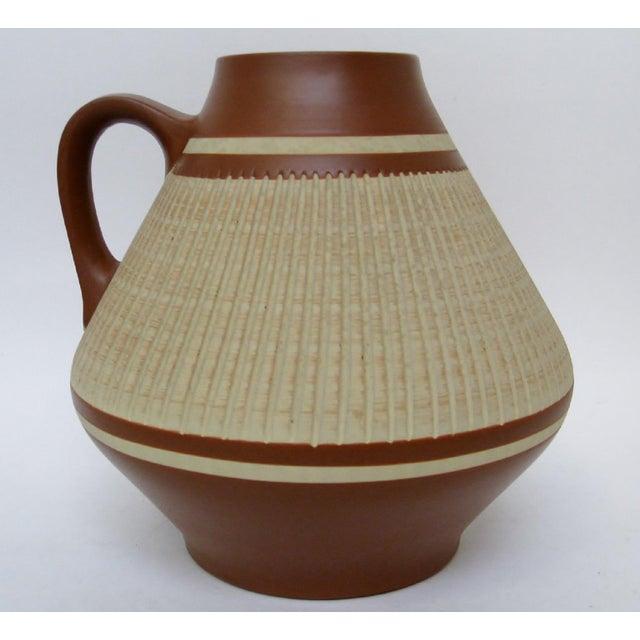 Mid-Century Modern West German Ceramic Vase For Sale - Image 3 of 7