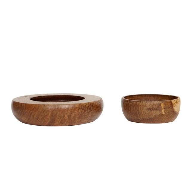 2010s KLOTZWRK Solid Oak Lathe Turned Bowl Set For Sale - Image 5 of 5
