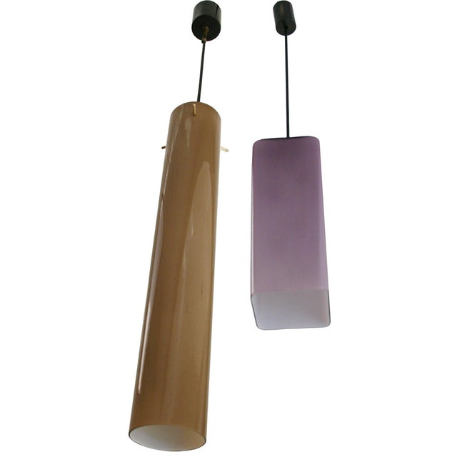 Italian Cased Glass Pendants For Sale - Image 9 of 9