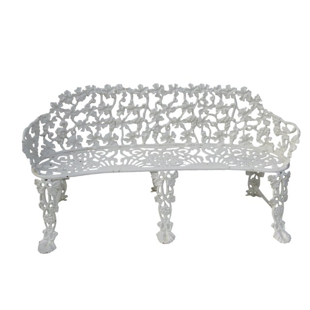 Victorian Cast Iron Footed Garden Bench - Image 1 of 7