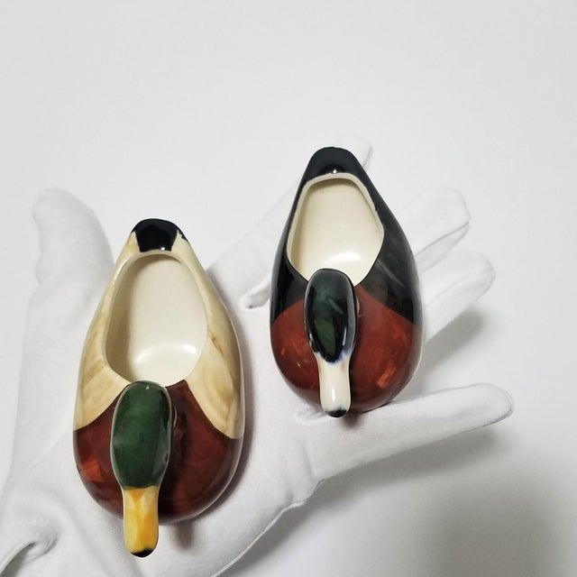 Vintage Ceramic Duck Vessels - A Pair For Sale In Chicago - Image 6 of 9