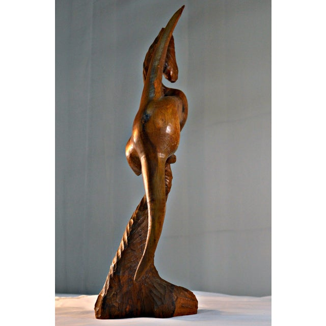 Wood Sculpture by Arthur Lutenbacher - Image 7 of 8