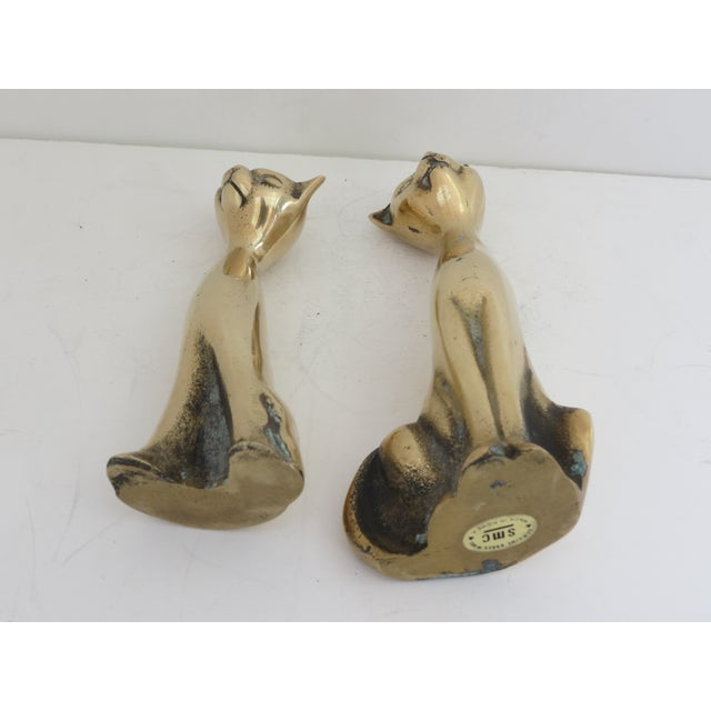 Mid Century Brass Cats - Pair - Image 5 of 5