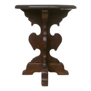 Italian Baroque Walnut Hexagonal Side Table For Sale