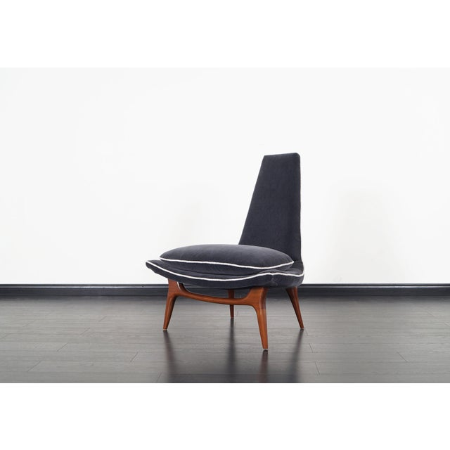 1950s Vintage High Back Lounge Chairs by Karpen For Sale - Image 5 of 9