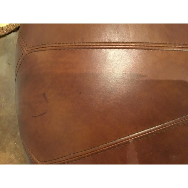 Henredon Henredon Leather Granby Ottoman For Sale - Image 4 of 7