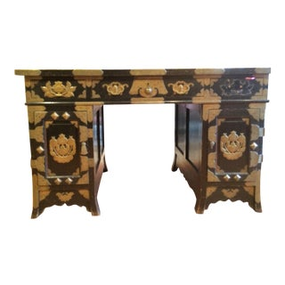 Late 19th Century Chinese Partner Desk For Sale