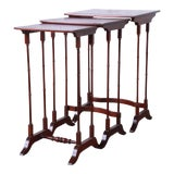Image of Baker Furniture Historic Charleston Collection Mahogany Nesting Tables, Set of 3 For Sale