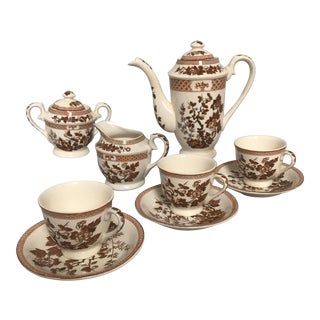 1960's Traditional Nasco Demitasse Coffee Service - 11 Piece Set For Sale