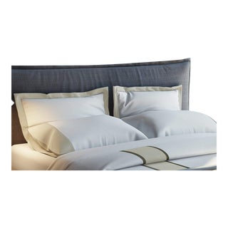 Monte Carlo Banded Pillowcases King - Pumice For Sale