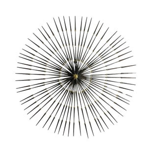 1970s Vintage Brutalist Welded Nail Starburst Wall Sculpture For Sale