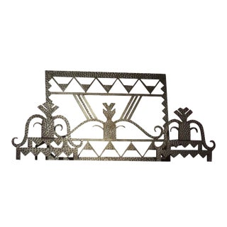 Art Deco Firescreen with Andirons For Sale