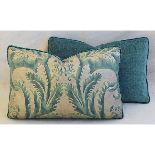 Italian Mariano Fortuny Feather/Down Accent Pillows - Pair For Sale - Image 11 of 13