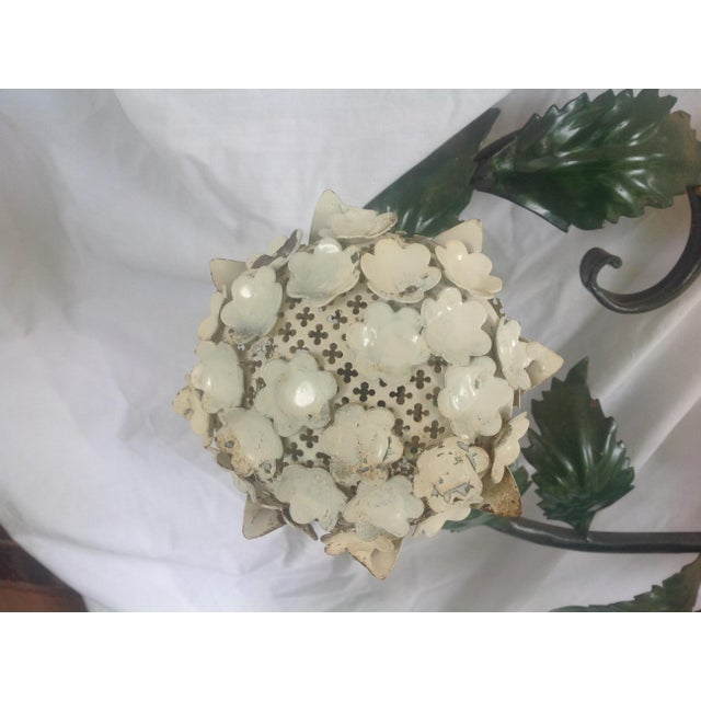 Metal Mid-Century Metal Hydrangea Sconce For Sale - Image 7 of 11