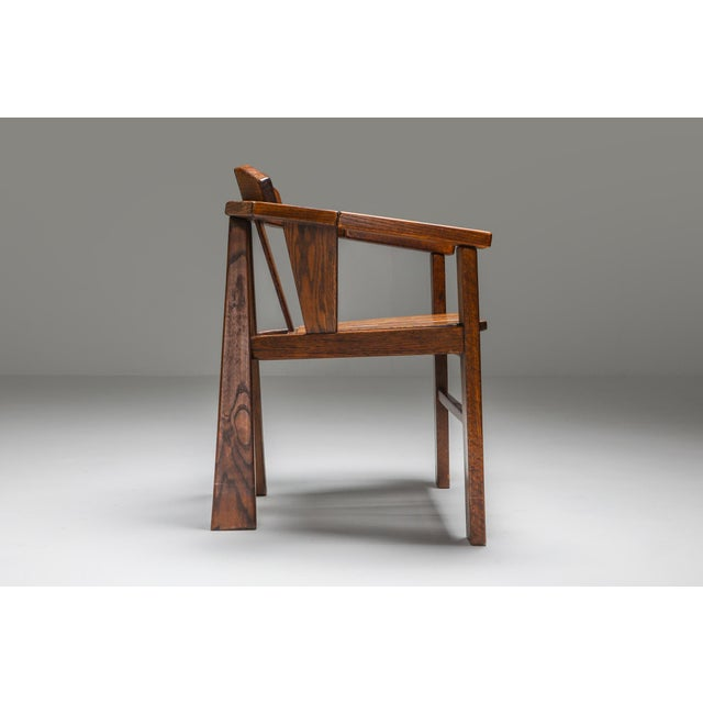 1960s Walnut Craftsman Chair - 1960s For Sale - Image 5 of 13