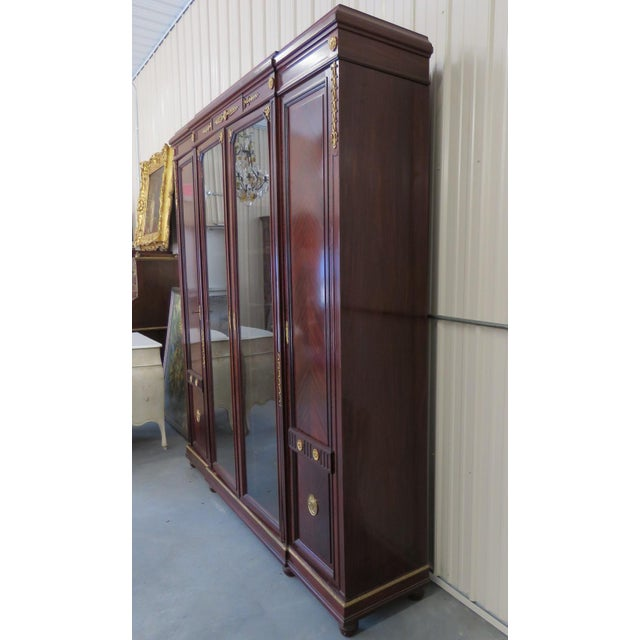 Regency Style Brass Mounted Breakfront For Sale - Image 10 of 11