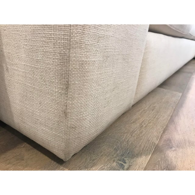 White L-Shaped Sectional Sofa For Sale - Image 4 of 13