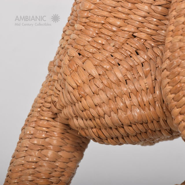 Mario Lopez Torres Wicker Monkey Sculpture - Image 7 of 10